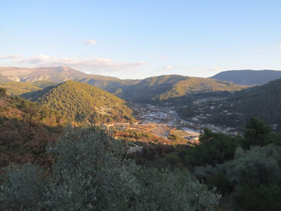 vue sur Cognas, La Bégude depuis la montée au dessus de l'église