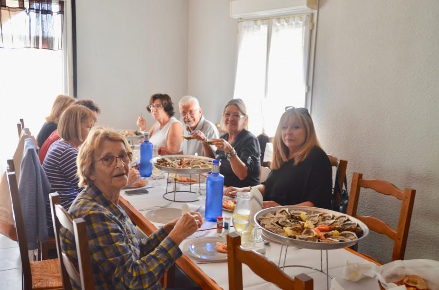 Dernier repas avant de reprendre la route vers Cantaron