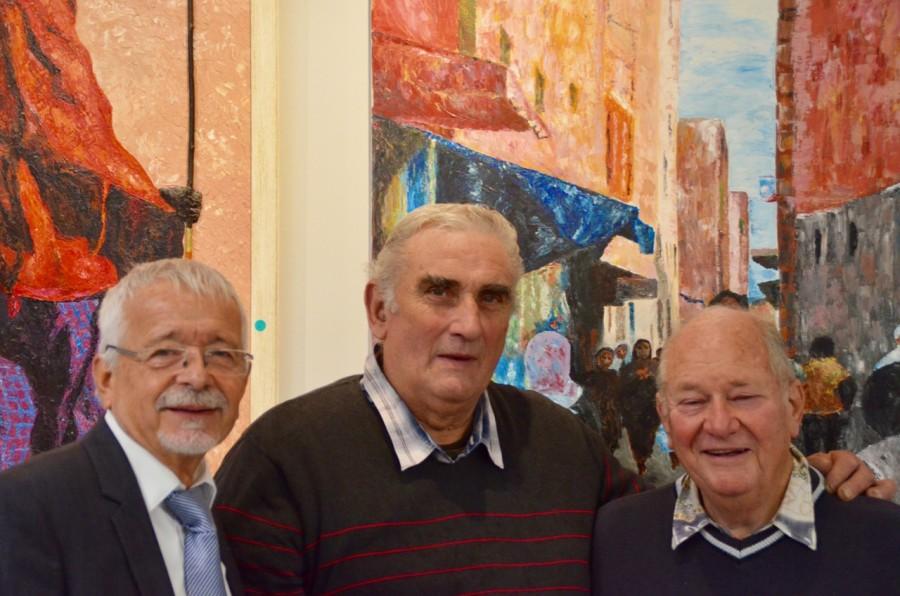 les 3 artistes: Gérard Stoerkel, James Charriault, Marcel Thibaut