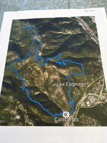 Le circuit du trail de 17km et ses 806m de dénivelé