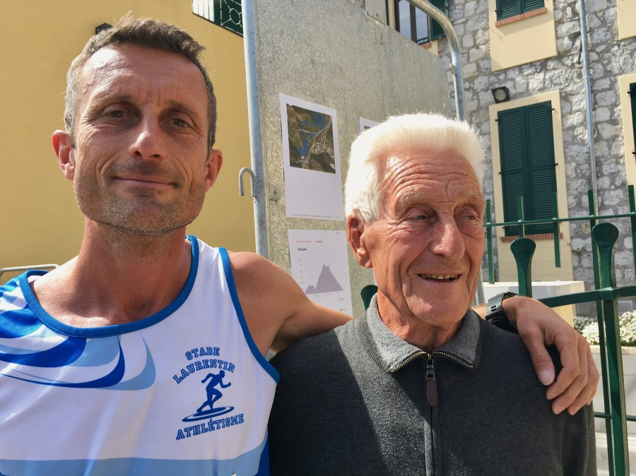 William, ancien champion du monde du semi-marathon et son papa