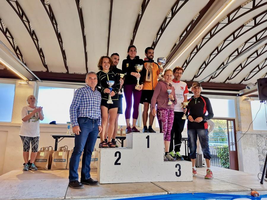 Le podium du trail, hommes et femmes