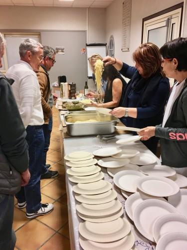 Le soir, la Pasta partie attendait les bénévoles